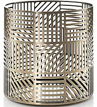 Parfumuri și produse cosmetice Suport pentru lumânare - Yankee Candle Crosshatch Brass Jar Holder
