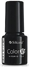 Parfumuri și produse cosmetice Fixator pentru unghii - Silcare Color IT Premium Hybrid Top Coat Gel