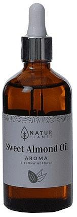 Ulei de migdale dulci cu aromă de ceai verde - Natur Planet Sweet Almond Oil Aroma Green Tea — Imagine N2