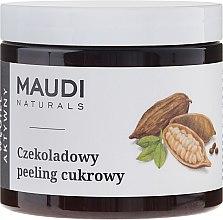 """Scrub de zahăr pentru corp """"Ciocolată cu cărbune activat"""" - Maudi — Imagine N1"""