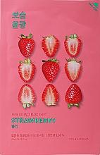 "Parfumuri și produse cosmetice Mască de țesut ""Strawberry"" - Holika Holika Pure Essence Mask Strawberry"