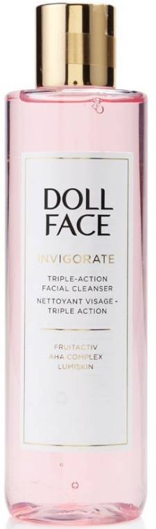 Soluție de curățare a tenului - Doll Face Invigorate Triple-Action Facial Cleanser
