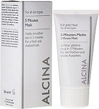 Parfumuri și produse cosmetice Masca-express pentru față 5 minute - Alcina B 5 Minute Mask