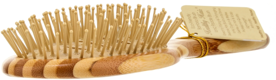 Perie din bambus pentru păr - Olivia Garden Healthy Hair Oval Vent Epoxy Eco-Friendly Bamboo Brush — Imagine N2