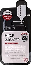 Parfumuri și produse cosmetice Mască din țesut - Mediheal H.D.P. Pore-Stamping Black Mask EX