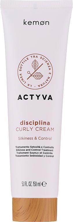 Cremă pentru păr ondulat - Kemon Actyva Disciplina Curly Cream — Imagine N1