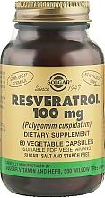 "Parfumuri și produse cosmetice Supliment alimentar ""Resveratrol"" - Solgar Resveratrol 100 mg"