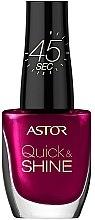 Parfumuri și produse cosmetice Lac de unghii - Astor Quick and Shine Nail Polish