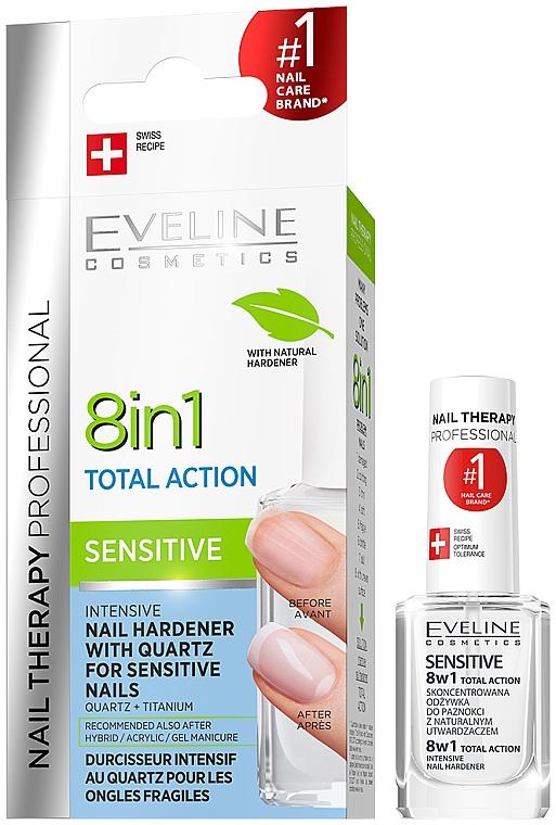 Ojă universală pentru unghii - Eveline Cosmetics Nail Therapy Professional Sensitive