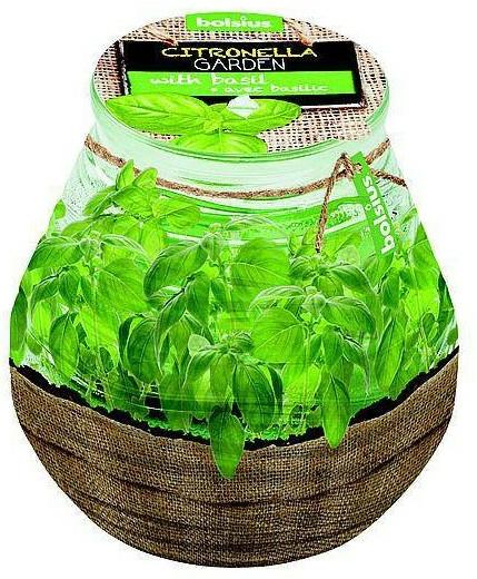 "Lumânare aromatică în borcan ""Citronella Garden Basilic"", 94/91 mm - Bolsius Candle — Imagine N1"
