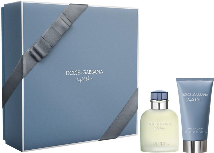 Dolce & Gabbana Light Blue Pour Homme - Set (edt/75ml + ash/balm/75ml) — Imagine N1