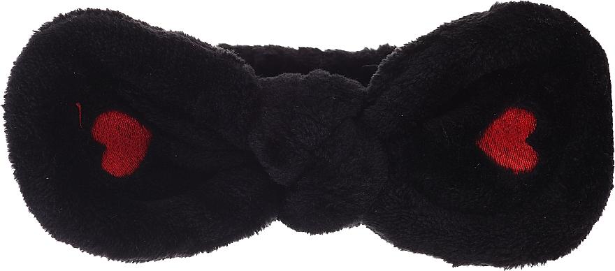 Bentiță cosmetică pentru păr, neagră - Lash Brow Cosmetic SPA Band