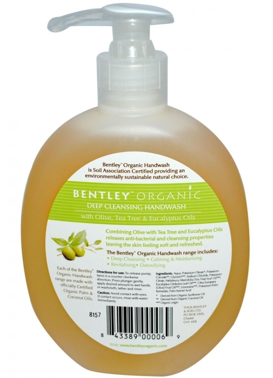 """Săpun lichid pentru mâini """"Curățare profundă"""" - Bentley Organic Body Care Deep Cleansing Handwash — Imagine N2"""
