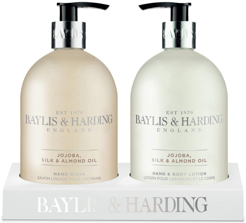 Set - Baylis & Harding Royal Bouquet Jojoba, Silk and Almond Oil (b/lot/500ml + soap/500ml) — Imagine N1