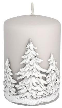 Lumânare aromatică, 7x10 cm, Copaci de Crăciun, alb - Artman Christmas Tree Candle — Imagine N1