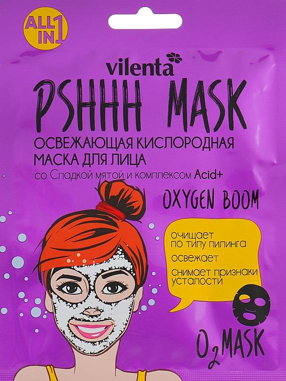 Mască revigorantă de oxigen, cu mentă dulce și complex Acid + - Vilenta Pshhh Mask — Imagine N1