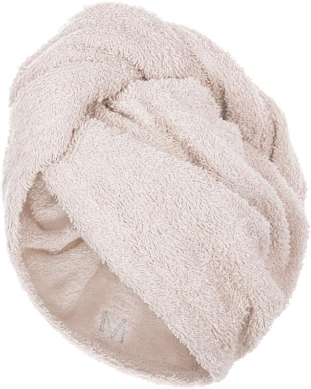 Prosop turban pentru uscarea părului, bej - MakeUp