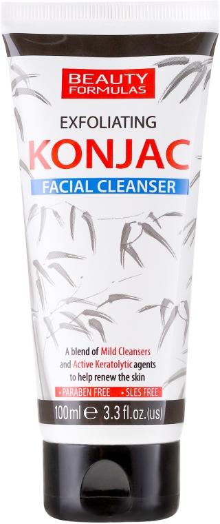 Gel de curățare pentru față - Beauty Formulas Exfoliating Konjac Facial Cleanser