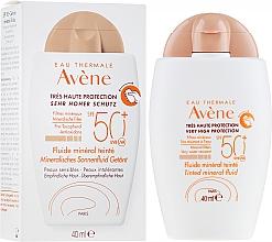 Parfumuri și produse cosmetice Fluid protecție solară, cu efect de tonifiere - Avene Eau Thermale Tinted Mineral Fluid SPF 50+