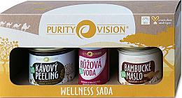 Parfumuri și produse cosmetice Set - Purity Vision Bio Wellness (b/peel/110g + butter/120ml + water/50ml)