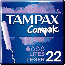 Parfumuri și produse cosmetice Tampoane cu aplicator, 22 buc - Tampax Compak Light