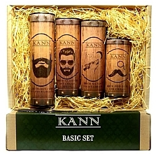 Parfumuri și produse cosmetice Set - Kann Basic Man (f/d/cr/50ml + f/n/cr/50ml+ f/gel/150ml + eye/cr/15ml)