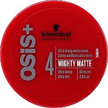 Parfumuri și produse cosmetice Cremă matifiantă de păr, fixare ultra-puternică - Schwarzkopf Professional Osis+ Mighty Matte Cream