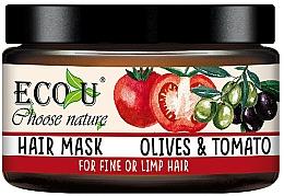 """Parfumuri și produse cosmetice Mască pentru păr subțire """"Roșii și măsline"""" - Eco U Mask For Fine Hair"""