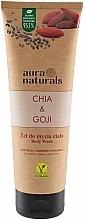 """Parfumuri și produse cosmetice Gel de duș """"Chia și Goji"""" - Aura Naturals Chia & Goji Body Wash"""