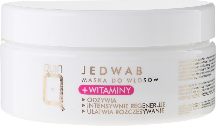 Mască pe bază de vitamine și in pentru păr - Silcare Quin Silk & Vitamins Hair Mask