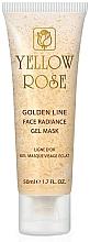 Parfumuri și produse cosmetice Mască-gel cu aur pentru față (tub) - Yellow Rose Golden Line Face Radiance Gel Mask