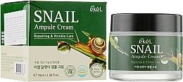 Parfumuri și produse cosmetice Cremă cu mucină de melc pentru față - Ekel Snail Ampule Cream