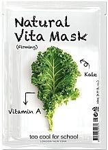 Parfumuri și produse cosmetice Mască din țesătură cu vitamina A și efect de întărire pentru față - Too Cool For School Natural Vita Mask Firming