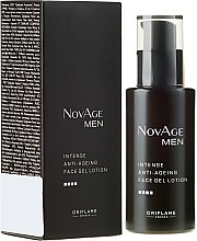 Parfumuri și produse cosmetice Gel facial anti-îmbătrânire - Oriflame NovAge Men Intense Anti-Aging Face Gel Lotion