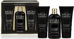 Set - Baylis & Harding Black Pepper & Ginseng (sh/gel/200ml + a/s/balm/200ml + wash/300ml) — Imagine N1