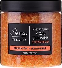 """Parfumuri și produse cosmetice Sare naturală de baie """"Fructul pasiunii și Vitamine"""" - Senso Terapia Stress Relief Salt"""