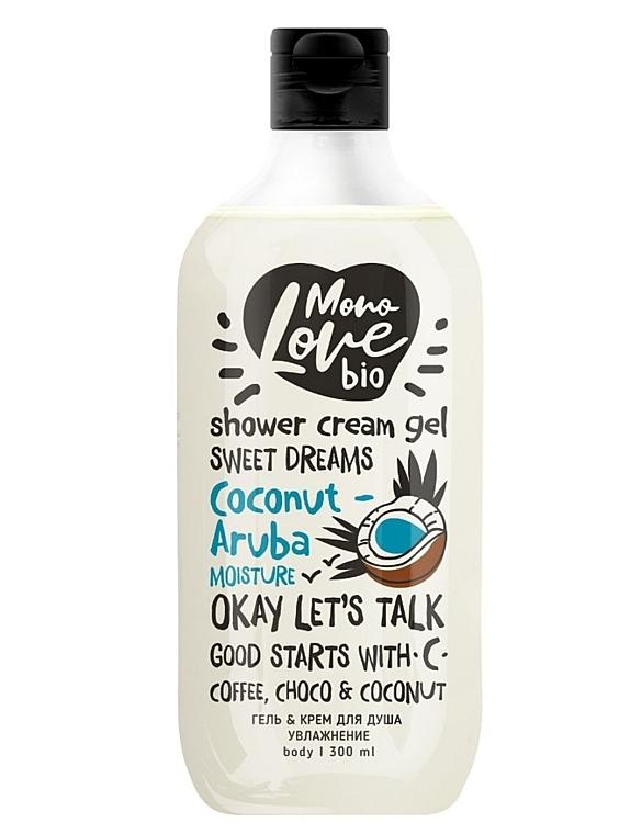 """Gel-cremă de duș """"Hidratare"""" - MonoLove Bio Coconut-Aruba Moisture — Imagine N1"""