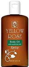 Parfumuri și produse cosmetice Ulei emolient pentru corp - Yellow Rose Body Oil With Essential Oils Spicy
