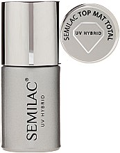 Parfumuri și produse cosmetice Top coat mat pentru oja semipermanentă - Semilac UV Hybrid Top Mat