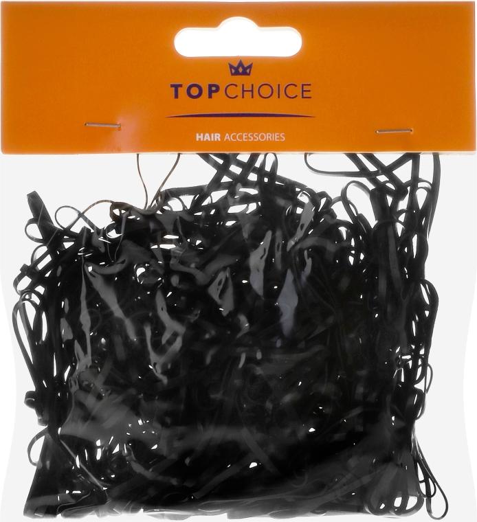 """Elastice mici pentru păr """"XS"""" 200 buc., negre - Top choice"""
