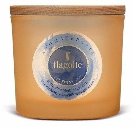 "Lumânăre aromată, în pahar ""Somn liniștit"" - Flagolie Fragranced Candle Rest Sleep — Imagine N1"
