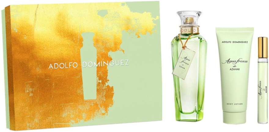 Adolfo Dominguez Agua Fresca de Azahar - Set (edt/120 ml+ edt/10 ml + b/lot/75ml) — Imagine N1