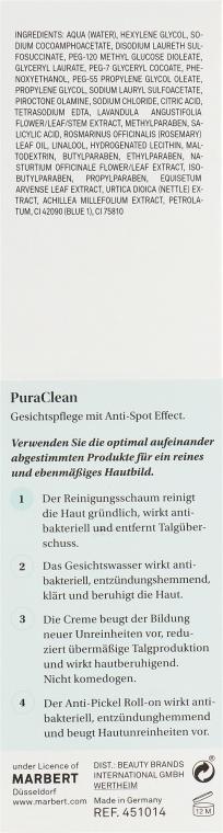 Spumă de curățare pentru față - Marbert Pura Clean Regulating Cleansing Foam — Imagine N3