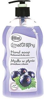"""Săpun lichid pentru mâini """"Coacăză și aloe vera"""" - Bluxcosmetics Naturaphy Hand Soap — Imagine N1"""