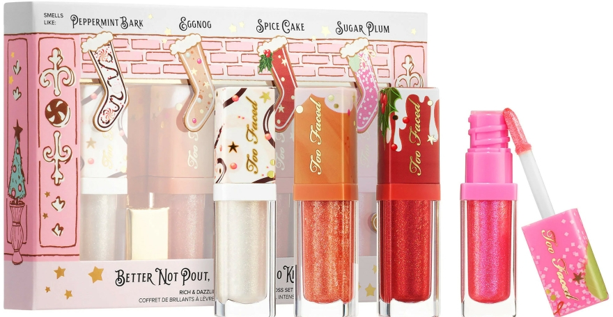 Set - Too Faced Better Not Pout But If You Do Keep It Glossy (4x/0.12ml) — Imagine N1