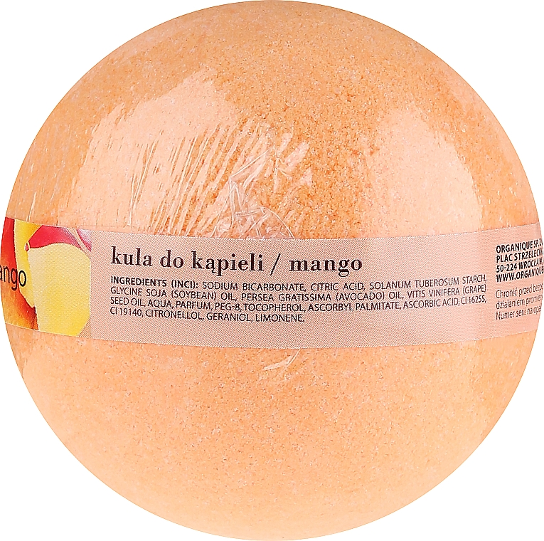 """Bilă efervescentă """"Mango"""" - Organique Bath Bomb Mango — Imagine N2"""
