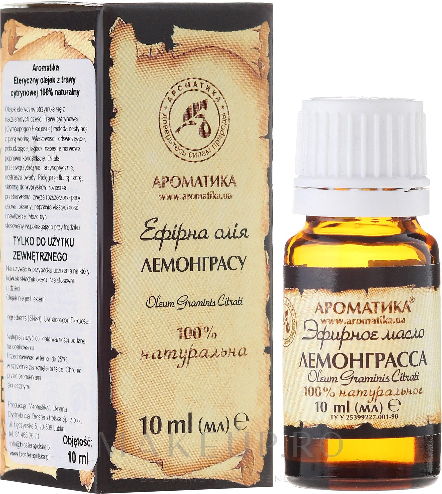 "Ulei esențial ""Lemongrass"" - Aromatika — Imagine 10 ml"