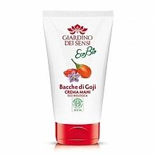 Parfumuri și produse cosmetice Cremă de mâini - Giardino Dei Sensi Ecobio Goji Berries Hand Cream