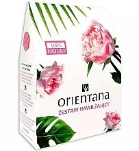 Parfumuri și produse cosmetice Set - Orientana (b/oil/100g + f/tonik/100ml + eye/mask/1pads)