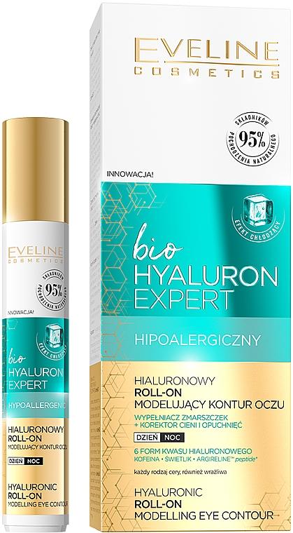 Ser pentru pielea din jurul ochilor - Eveline Cosmetics Bio Hyaluron Expert Hyaluronic Roll-on Modelling Eye Contour